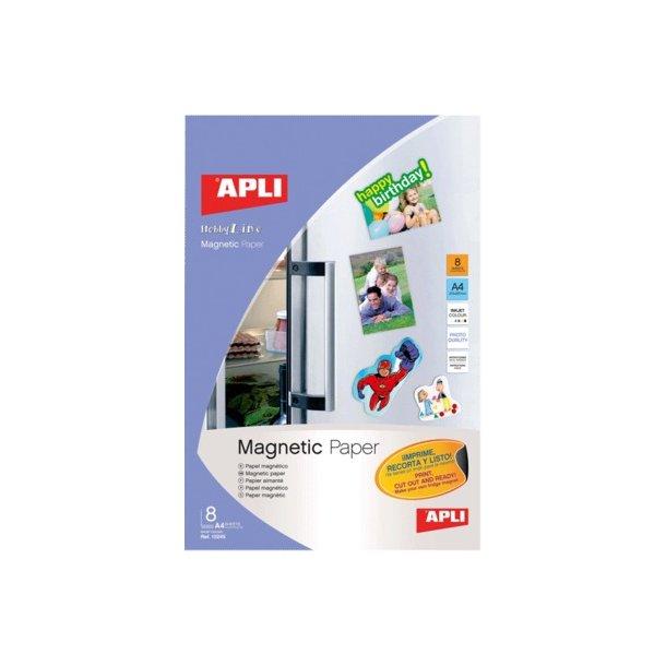 A4 magnetisk papir Apli, 640 gr - 1 æske