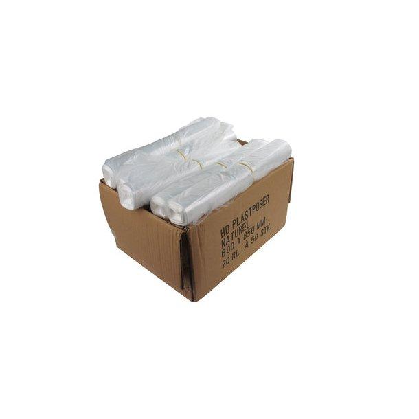 Affaldsposer 50 ltr. 60x85 cm, Klar 7 my - 1 rll