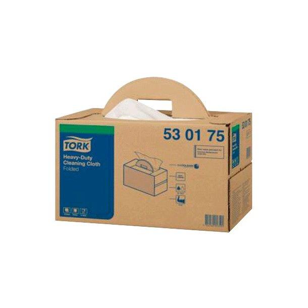 Aftørringsklud Tork W7 Long, Handy box, Hvid - 120 ark