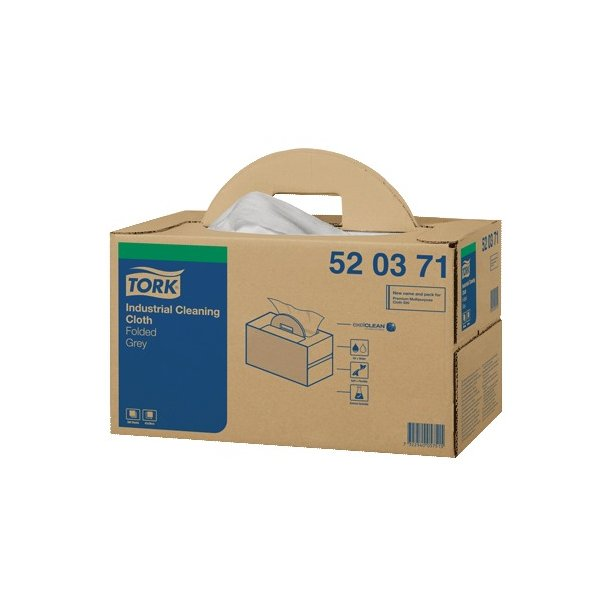 Aftørringsklud Tork W7, Handy box, Hvid, 1-lags - 200 ark