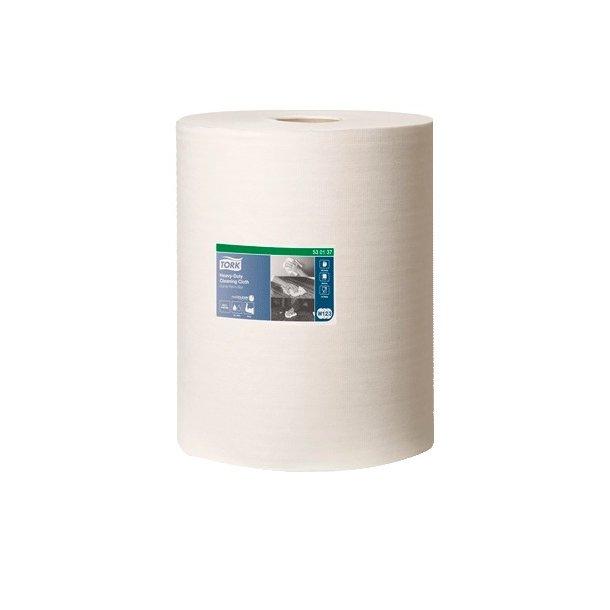 Aftørringsklud Tork W1 Hvid, 1-lags i box - 1 rll