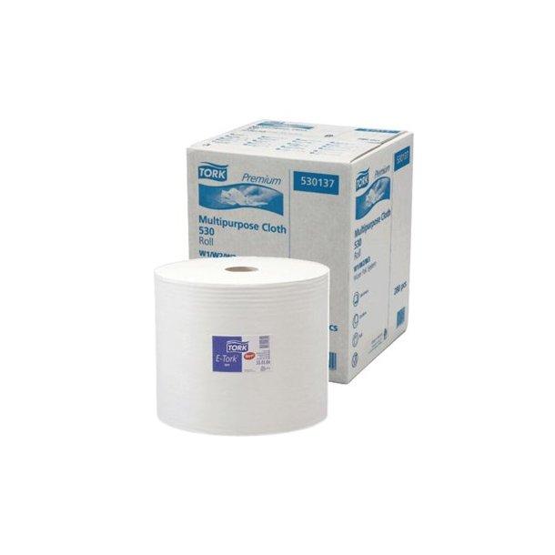 Aftørringspapir Tork W4, Hvid, 1-lags - 500 ark