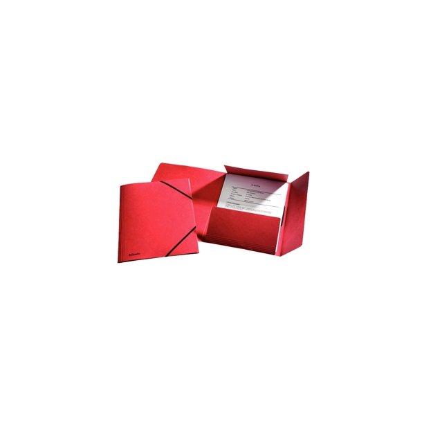 3-klap elastikmapper - Esselte A4 Rød FSC - 25 stk