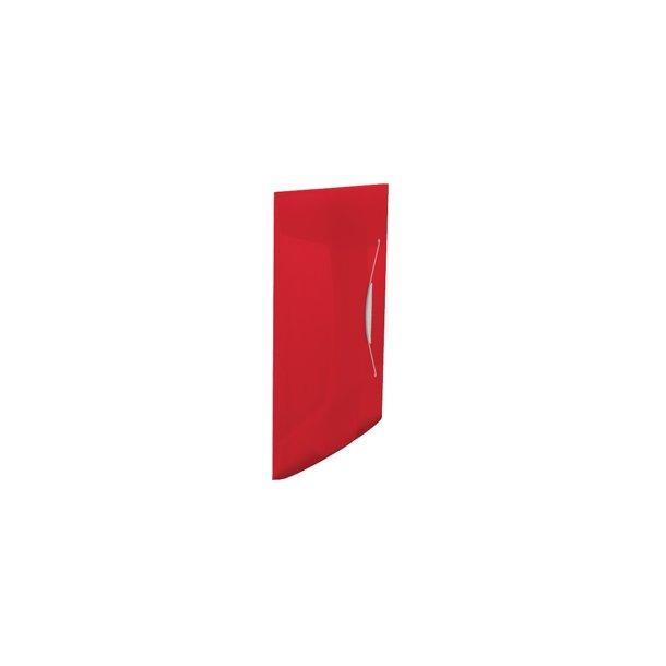 3 Flap Folder Vivida PP Red 10 stk