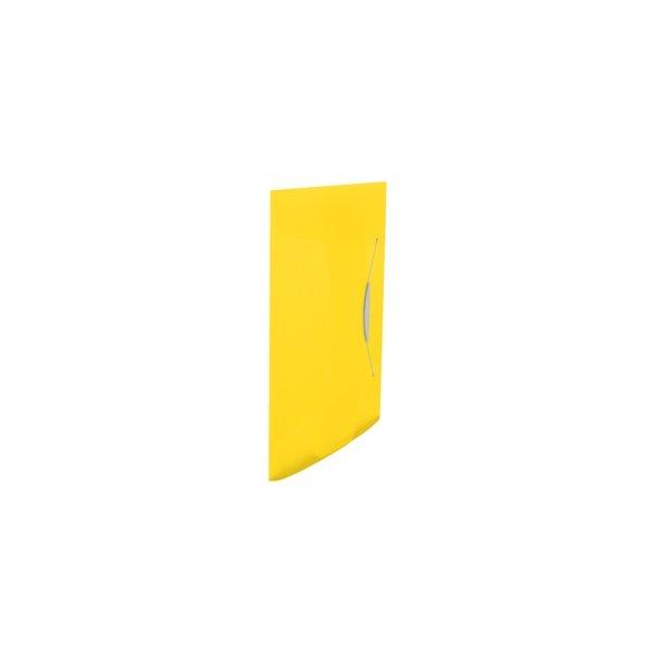 3 Flap Folder Vivida PP Yellow 10 stk