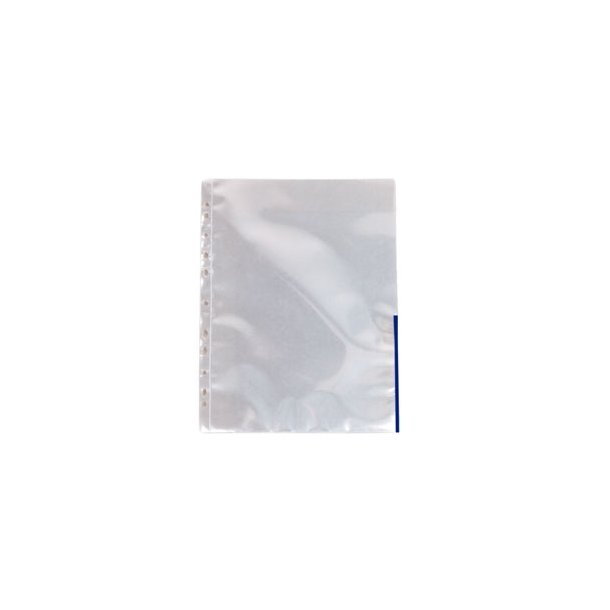 Esselte pocket Coloured Edge blue glassclear 105my A4 100 stk